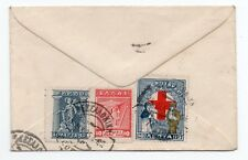 Envelope to London England with Greece stamps on reverse very unusual & scarce.