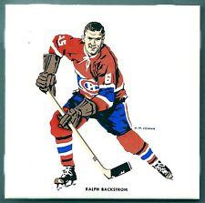 1962-63 H.M.Cowan Ceramic Tile's Canadiens' Ralph Backstrom, Mint