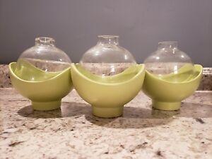 3 Global Views Chartreuse Aquarium Style Vase