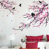 Birds Branch Plum Flowers Blossom Removable Wall Stickers Kids Art Nursery Decor