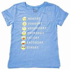 Days of the Week Emoji Tee Shirt Blue Girls Size 14 Stars and Sprinkles