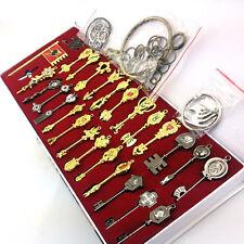 29pcs Fairy Tail Necklace Souvenir Alloy Celestial Spirit Gate Key With Box Hot