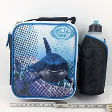 Great White Shark Insulated Lunch Bag Bottle Set EZ Clean Arctic Zone School NEW