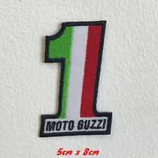Italian Motorcycle Flag Moto Guzzi 1 Embroidered Iron Sew on Patch #1542