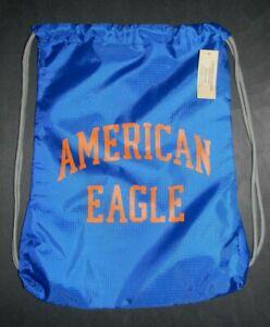 MENS AMERICAN EAGLE ROYAL BLUE DRAWSTRING BAG SACK PACK BACKPACK