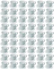72x SET TAZZE quadrato 0,18 litri, coppa, Piattino, Porcellana Bianca