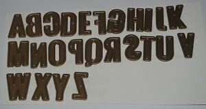 Upper Case Alphabet Die Set - 26 Dies  - Large Dies