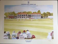 limited edition Print Hampshire Cricket Club