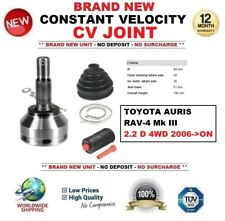 FOR TOYOTA AURIS RAV 4 Mk III 2.2 D 4WD 2006->ON NEW CONSTANT VELOCITY CV JOINT