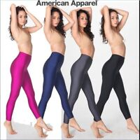 New American Apparel SHINY NYLON DISCO TRICOT LEGGING HIGH WAIST RNT38