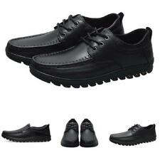 Black Men Driving Moccasins Business Leisure Shoes Lace up Flats Breathable 44 L