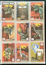 Complete First Series Set, Jurassic Park 1993: 88 Trading Cards-11 stickers
