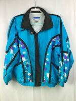 Fun 80s 90s Vintage Novelty Print Windbreaker Jacket Unisex M Excellent Quality