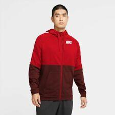 Nike Felpa Giacca SportivaCappuccio Hoodie Rosso 2020 21 Training con tasche