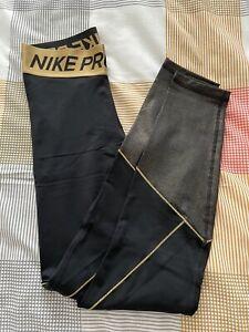 Nike Pro Warm Older Kids' (Girls') Black Leggings XL 13-15 yr