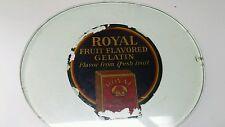 VTG 1920s 30s STORE COUNTER Glass DISPLAY ORIGINAL ROYAL GELATIN HEAVY RARE