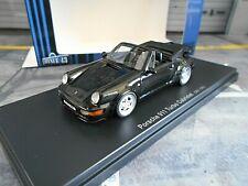 PORSCHE 911 964 Turbo Cabrio Cabriolet 3.3 schwarz black 1/333 NEU Autocult 1:43