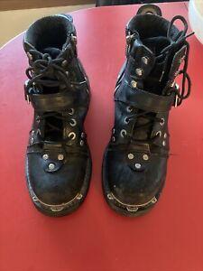 Harley Davidson steel toe boots leather mens Size 10.5  black 91684