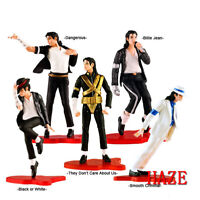 "5pcs King of Pop Foreve MJ Michael Jackson 4"" PVC Action Figure Model Toy Statue"