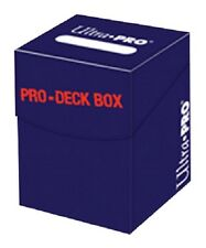 Ultra Pro 100+ Blue Pro-Deck Box (Trading Card Accessories) NEW holds 110 cards