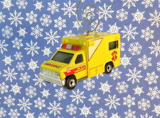 Custom Christmas Ornament 1/64 Scale Emergency Paramedic Ambulance Vehicle