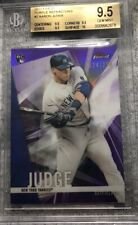 "AARON JUDGE 2017 TOPPS FINEST ""PURPLE"" REFRACTOR #2 ROOKIE CARD BGS 9.5"