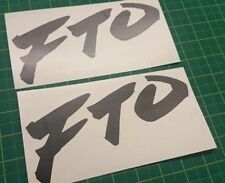 Mitsubishi FTO V6 decal stickers graphics restoration replacement Mivec