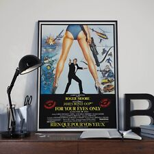 James Bond 007 For Your Eyes Only Movie Film Poster Print Picture A3 A4