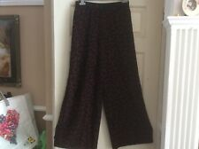 NEW LADIES SIZE 10 BLACK AND RED WIDE leg palazzo type floaty TROUSERS