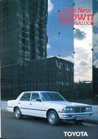 Toyota Crown Super Saloon 1980 UK market sales brochure