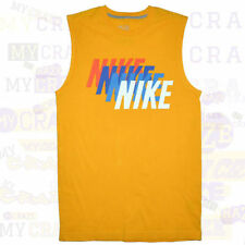 Nike Solid Sleeveless T-Shirts for Men