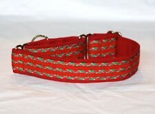 "1.5"" Martingale Dog Collar Christmas Colors - Paracord & Cotton"