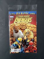 Marvel Comics — The New Avengers 1 — The Heroic Age — 2010 — Free Shipping