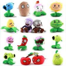 "Wholesale 5"" Plants VS Zombies Soft Plush Toy With Sucker A full 15 pcs/set Hot"