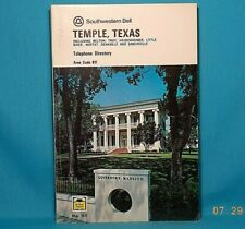 1971 TEMPLE TEXAS Southwestern Bell Telephone Directory with Yellow Pages