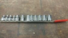 Craftsman metric socket set 12 pc. 12 pt. 1/2 in drive 9mm-24mm used USA