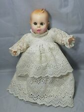 Vintage Gerber Baby Doll Moving Eyes Dress Gown Rosy Cheecks Lace