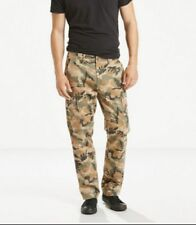 Levis Mens Cargo Pants Levis 541-24877 Athletic Fit Elmwood Gridley Camo 36/30