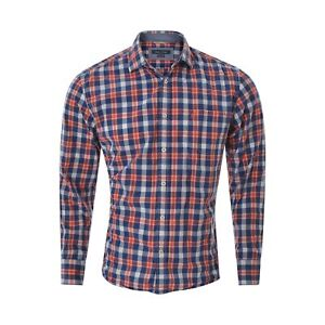 Marc O'Polo Mens Casual Shirt Size L multi checked Regular fit Long Sleeves Tops