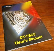 Chaintech CT-5SSV Socket 7 Mainboard Motherboard Original User's Manual Guide