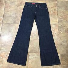 409e905d461 AG Adriano Goldschmied The Jeanne Dark Wash Wide Leg Flared Jeans 29R  (31x35)