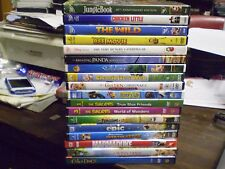 (21) Childrens Animal DVD Lot: Disney Jungle Book  Chicken Little  Finding Nemo