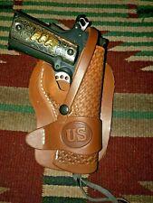 Fits Colt Kimber Ria Model 1911 Leather Holster Western Holster Basketweave w Us