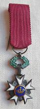 Miniature Médaille CROIX CHEVALIER ORDRE DE LA COURONNE BELGIQUE ARGENT MEDAL