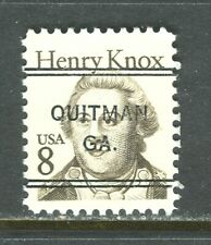 Quitman GA 243 DLE precancel on 8 cent Knox Great American issue