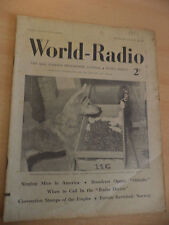 OLD VINTAGE WORLD RADIO TIMES 1930s MAGAZINE 14 MAY 1937 BBC foreign programme