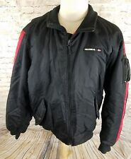 Polo Jeans Ralph Lauren VTG Size XL Black & Red Puffer Ski Jacket Spell Out Zip