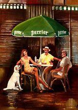 YARY DLUHOS sidewalk cafe city summer friends dog Limited Edition ACEO Print Art