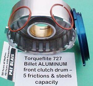 Torqueflite 727 Billet ALUMINUM Drum – Capacity = 5 Friction Plates & 5 Steels
