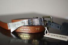 Diesel Unisex Leather Belt Dark Brown Size 95 cm/ 38 inches